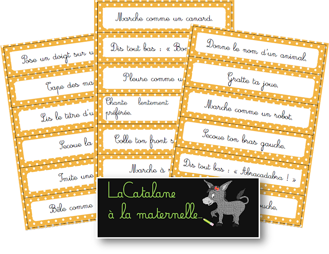 Phrases d'action 2 cursif - tickets d'ordres (LaCatalane)
