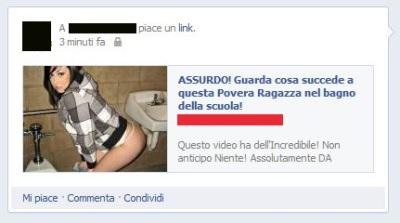 Protezione account spam guarda cosa succede a questa - Nel bagno della scuola ...