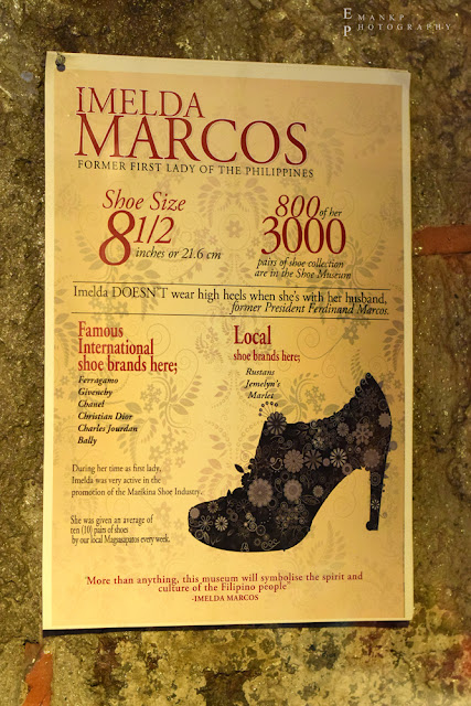 An infographic trivia poster about Imelda's shoes.
