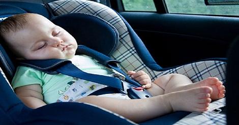 Bayi Nyaman di Mobil