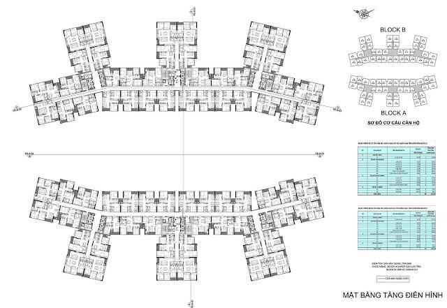 Mặt bằng căn hộ dự án chung cư Imperia Sky Garden 423 Minh Khai