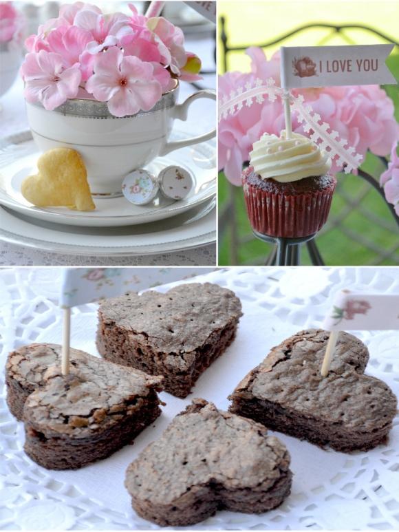 Last Minute Valentine's day Tea Party Ideas - via BirdsParty.com