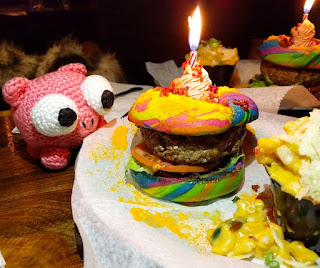 The Last Unicorn Burger with our mascot