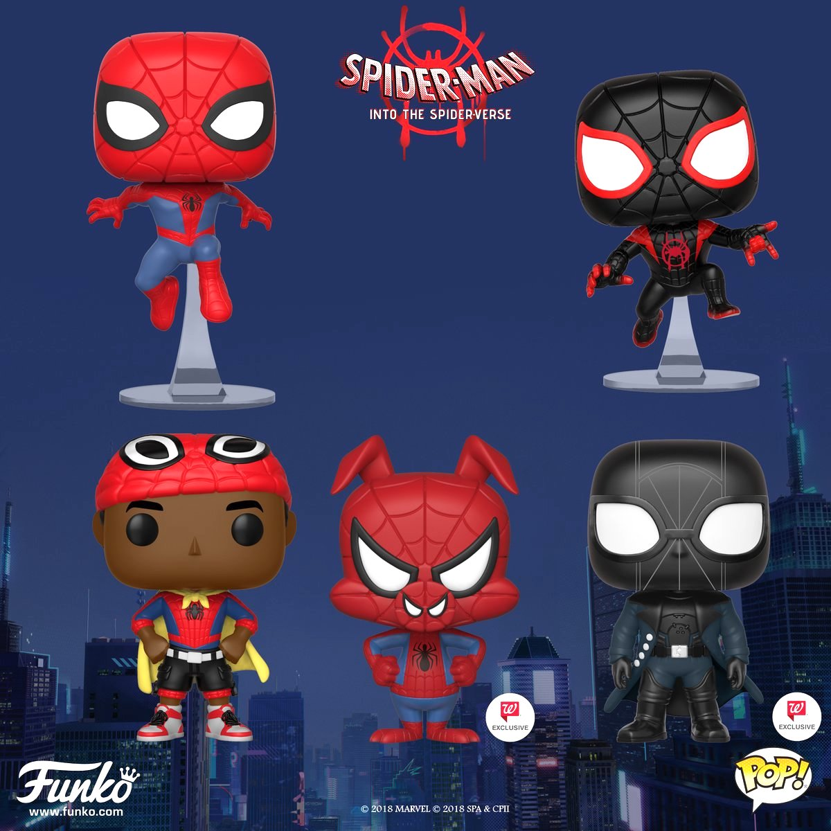 Marvel S Spider Man Into The Spider Verse Animated Film Funko Toys