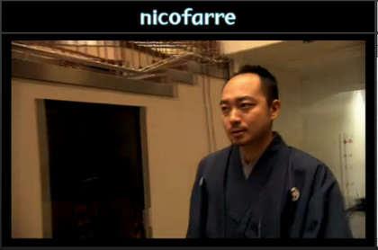 佐藤六段が登場したところ。和服です。