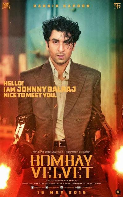Bombay Velvet, Film Poster, Directed by Anurag Kashyap, starring Ranbir Kapoor, Anushka Sharma