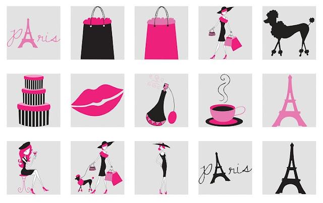 15 Años con el Tema París: Clipart.