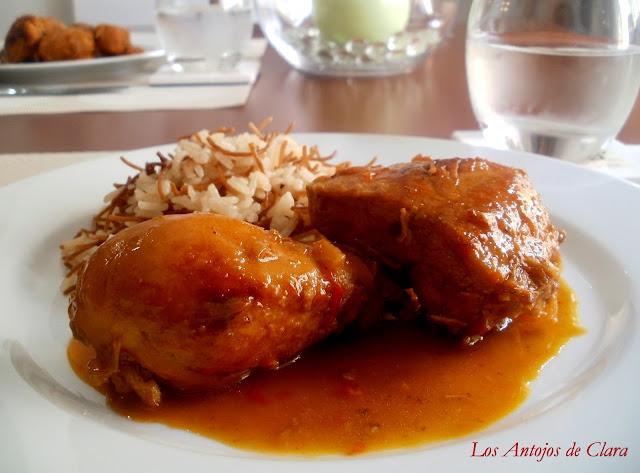 Pollo a la naranja con jengibre