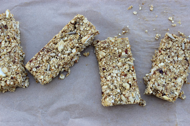 No Bake Orange and Cashew Breakfast Bars