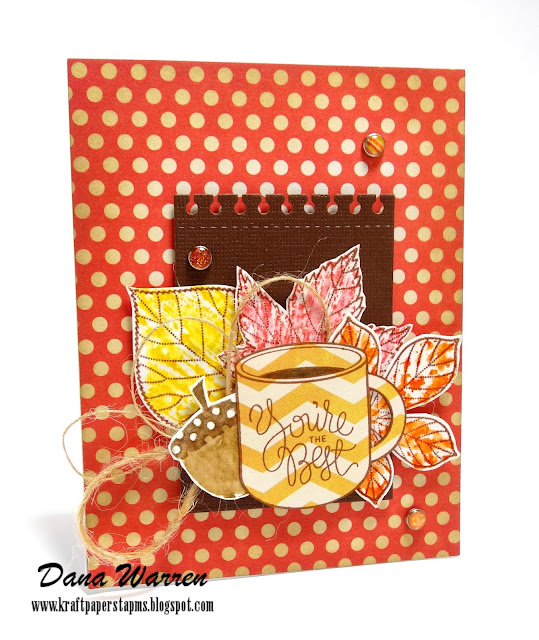 Dana Warren - Kraft Paper Stamps - Simon Says Stamp Penny Black