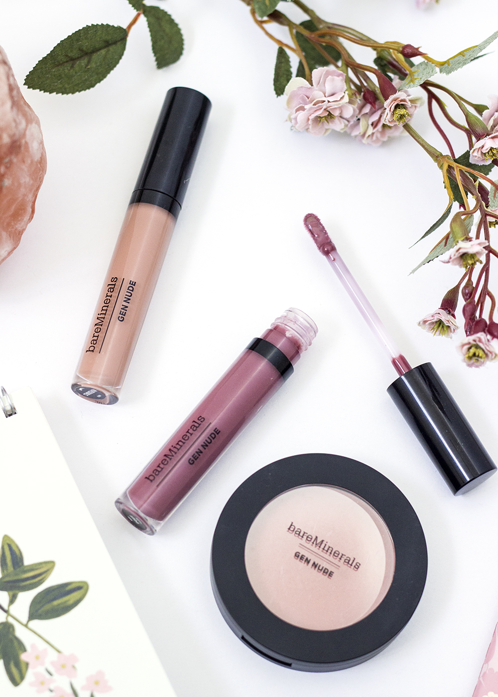 BareMinerals Patent Lip Lacquers in Pout and #Lifegoals