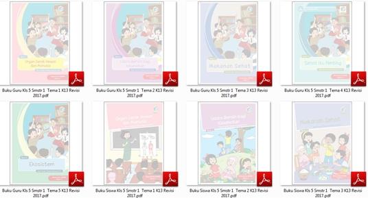 Download Buku Tematik Terpadu Kurikulum 2013 Edisi Revisi 2017 untuk Guru dan Siswa Kelas 5 SD-MI Semester 1 Tema 1-2-3-4-5