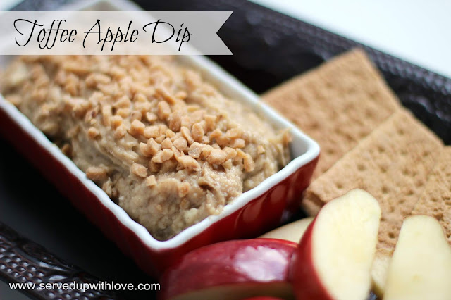 Toffee Apple Dip recipe from Served Up With Love