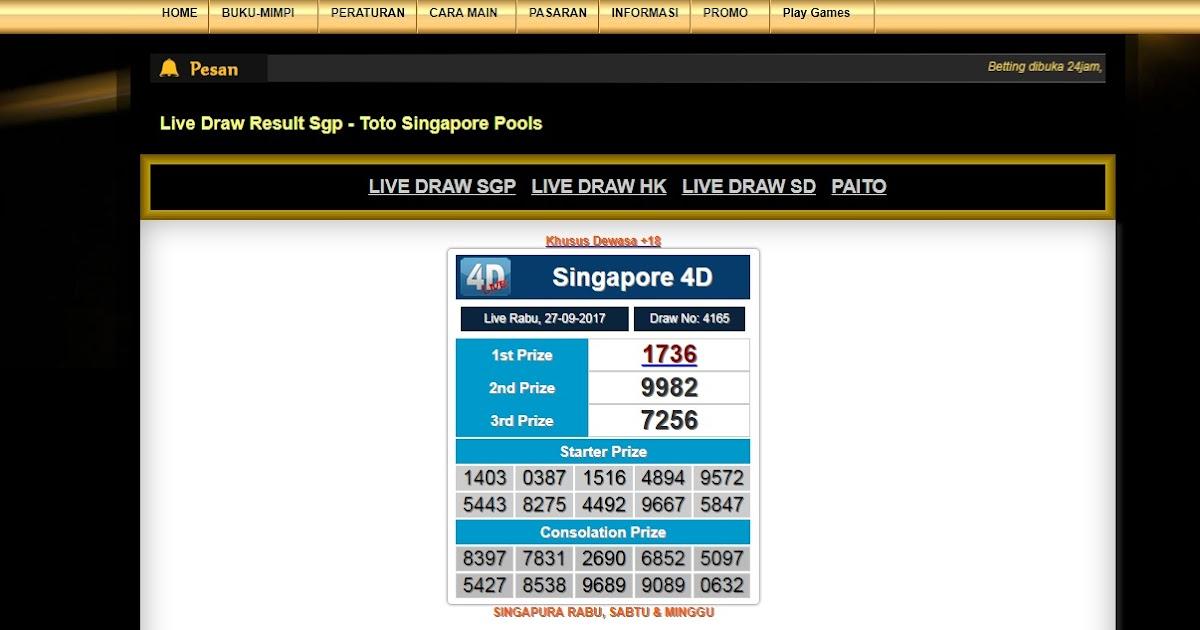 sgp togel result today