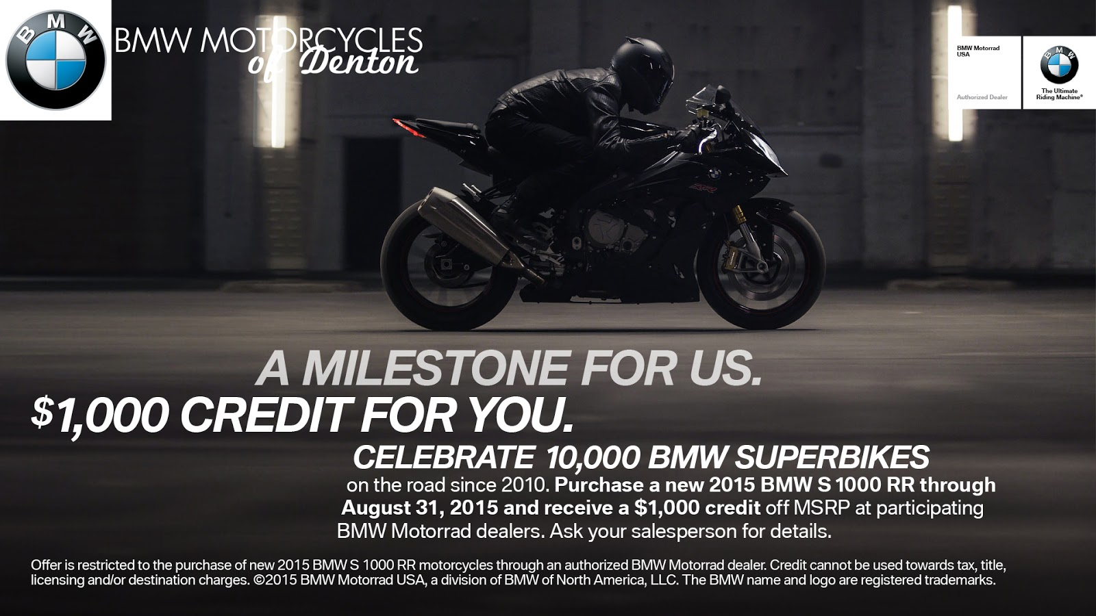 bmw motorcycles of denton: bmw motorcycle promotions going on now