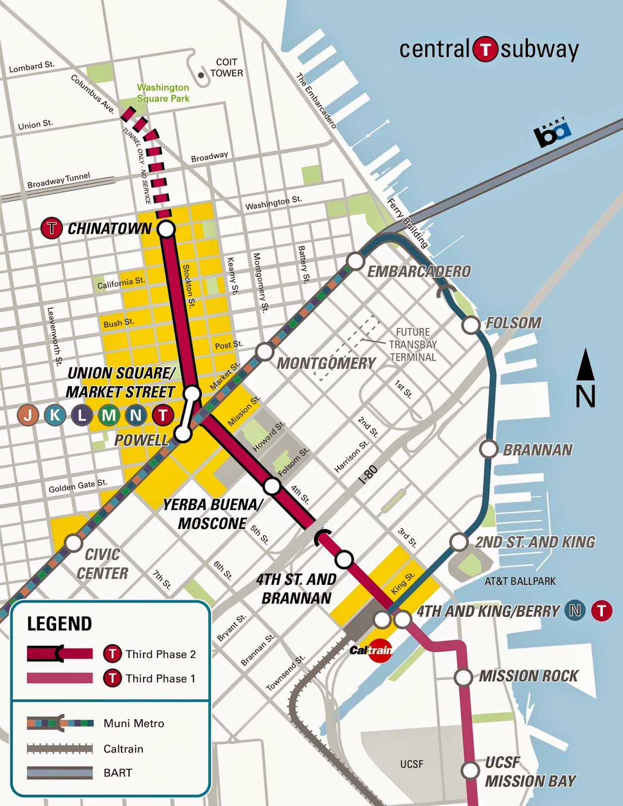 Central Subway Map.Give Me A Moment A Lifestyle Downtown San Francisco Central Subway