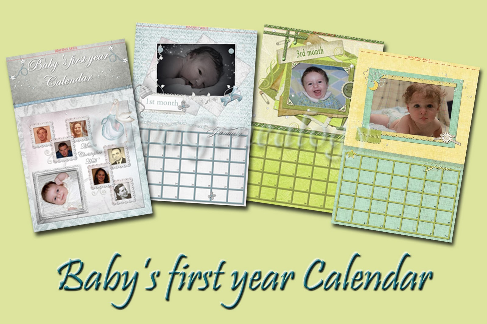 Preserving Heritage Calendar Idea Baby S First Year