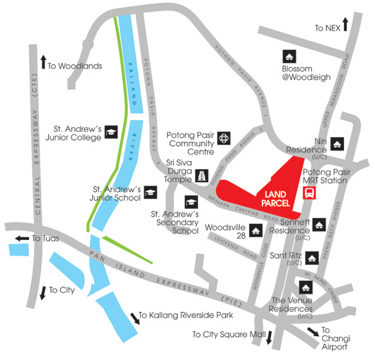 The Andrew Residences Map