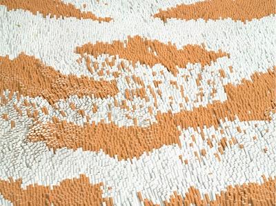إبداع الفن التشكيلي سجادة من السجائر xubing-tobacco-rug-3