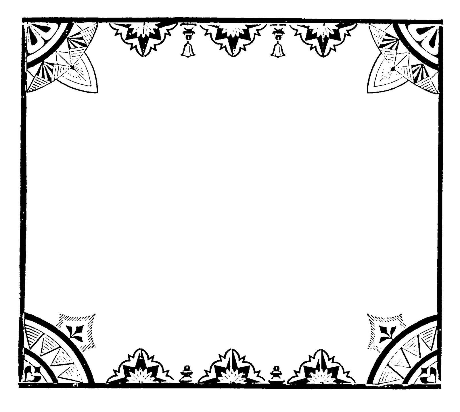 Digital Stamp Design: Decorative Frame Free Clip Art Printable ...