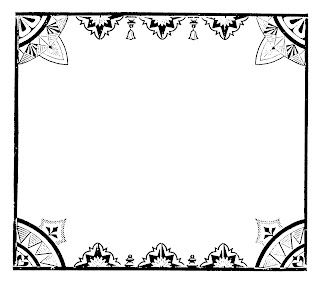 frame digital download decorative image transfer square border