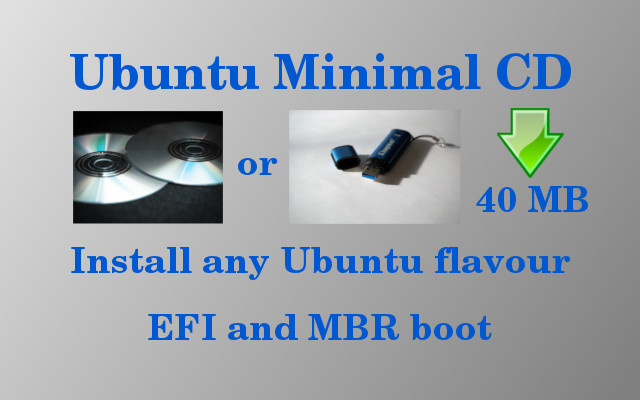 How to install Ubuntu from Minimal CD (with UEFI)