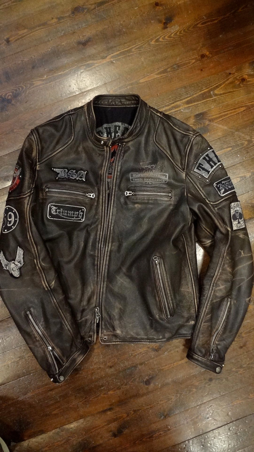LAVERDA Limited MOTORCYCLE Giacca Moto Leather Biker giacca giubbotto jacket XL