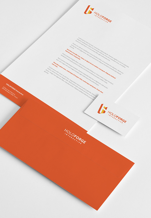 Inspirasi Desain Branding Identity - HOLOFORGE Interactive Branding