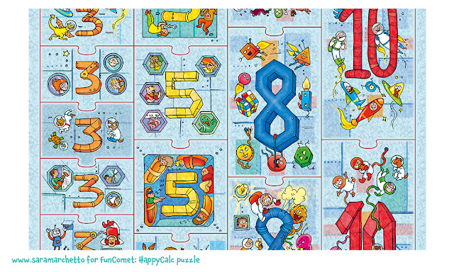 space illustrations kids puzzle