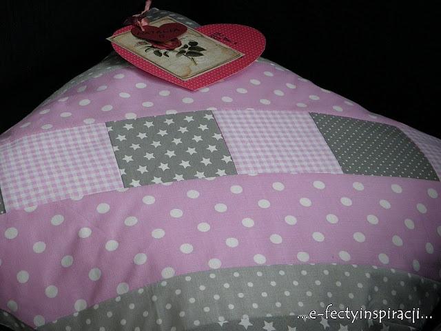 poszewka na poduszkę patchwork
