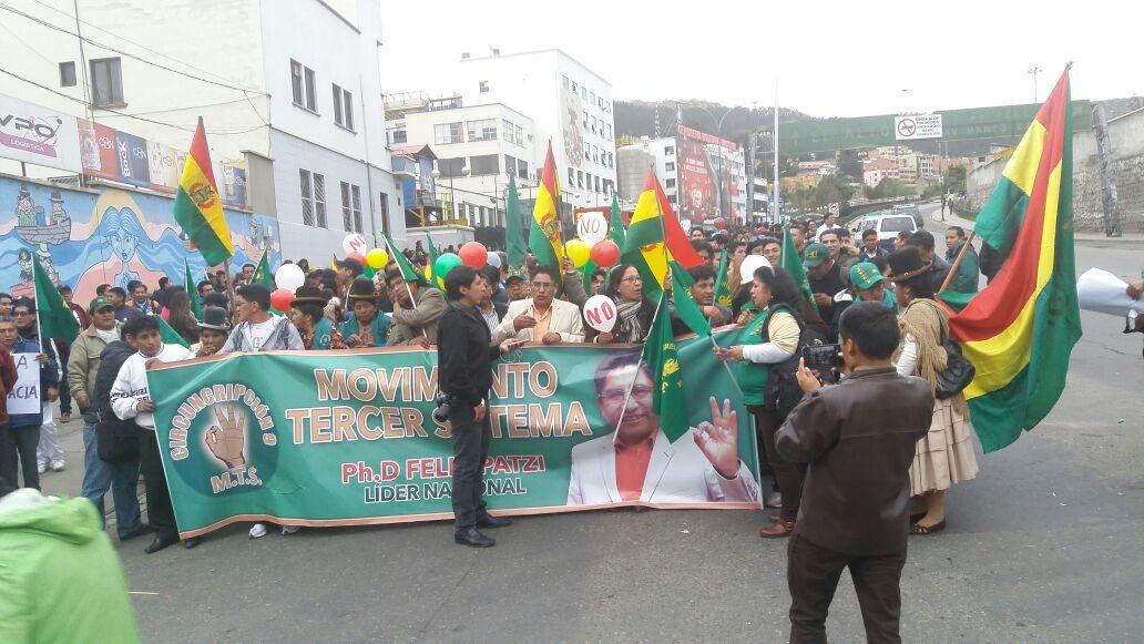 Gobernador salió a la manifestación en la tarde como presidente del MTS / RADIO LIDER