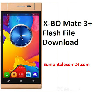 X-BO Mate 3+ Flash File download | MT6580 Stock Firmware File