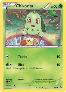 Chikorita BREAKpoint Pokemon Card