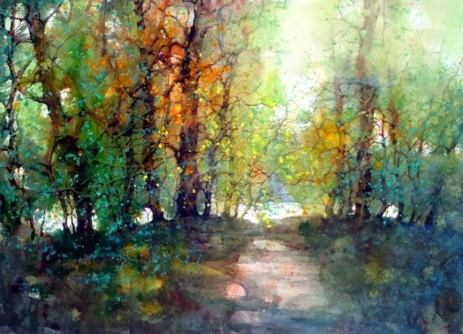 Beautiful Watercolor Landscape Paintings by ZL Feng