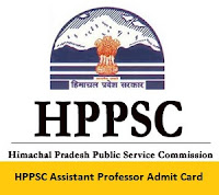 HPPSC Assistant Professor Admit Card
