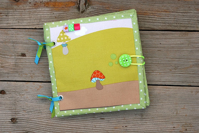 Little jungle fabric book