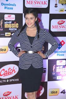 Mannara chopra at Mirchi Music Awards