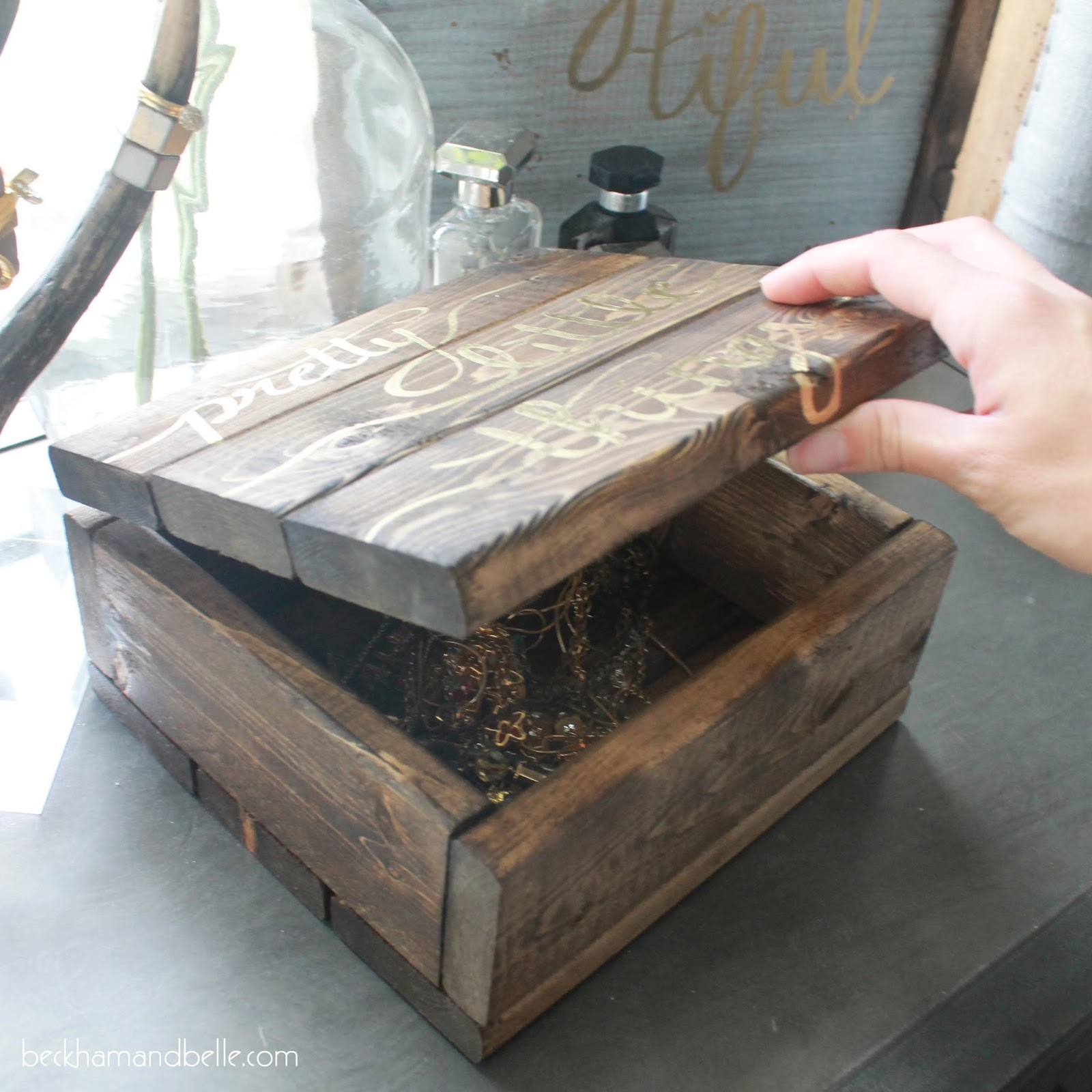diy wooden jewelry accessories box beckham belle