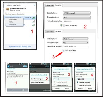 cara mengetahui password wifi menggunakan laptop dan android