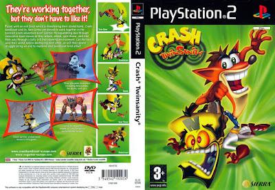 Jogo Crash Twinsanity PS2 DVD Capa