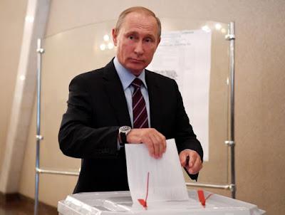 Путин голосовал на участке №2151 в Академии наук