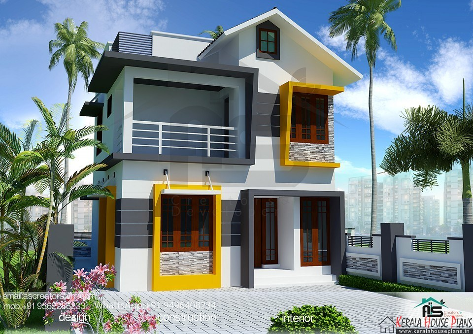 Beautiful Kerala Home Design 900 Sq Feet Part - 4: 900 Sq Ft House Plans In Kerala