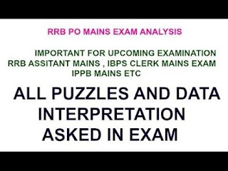 PUZZLES QUESTIONS WITH SOLUTION ASKED IN VARIOUS BANK EXAM