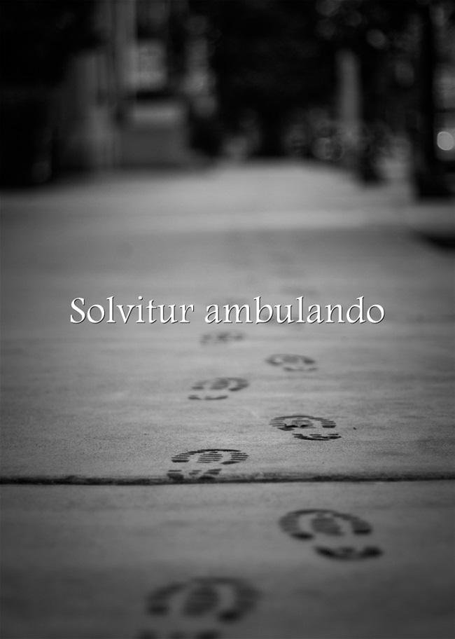 Solvitur Ambulando