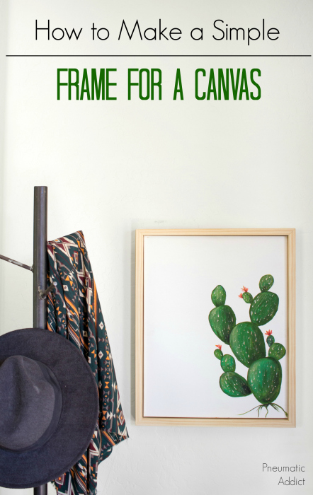 How to make a simple frame to fit an art canvas
