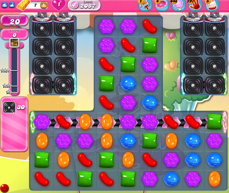 Candy Crush Saga level 2087