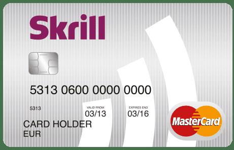 Tarjeta de Skrill