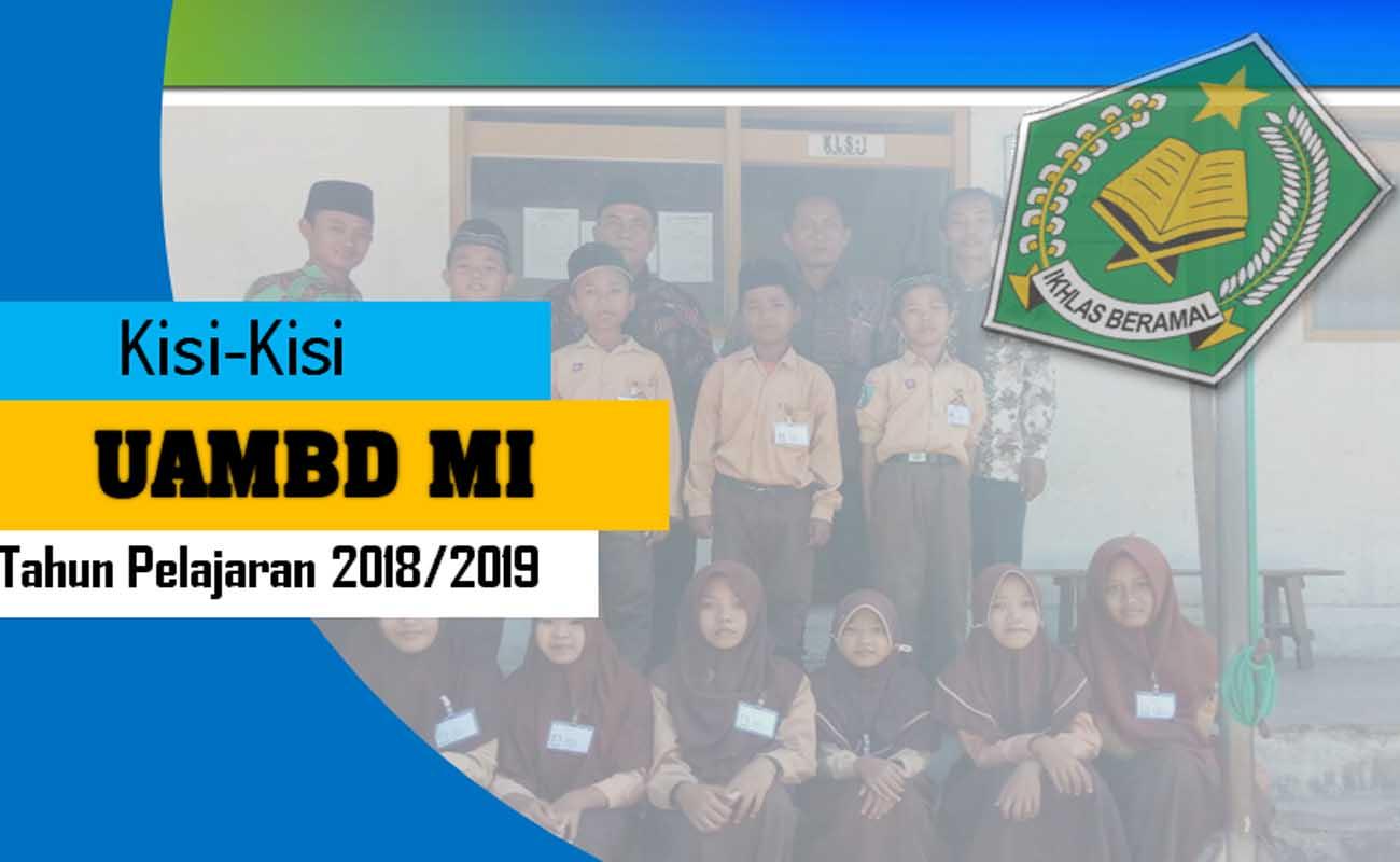 Download Kisi-Kisi UAMBD MI Tahun Pelajaran 2018-2019 PDF
