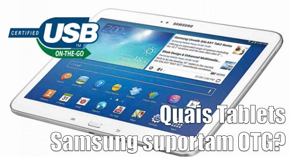 Tablet Samsung USB OTG