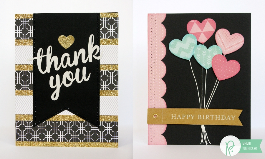 Snippets By Mendi Pebbles Birthday Thank You Cards With Gift Card